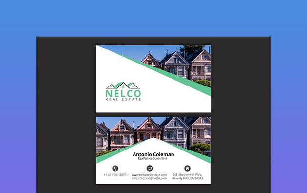 Photo Real Estate Business Card Template
