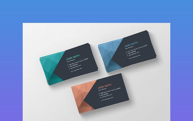 Modern Polygonal Professional Business Card Template