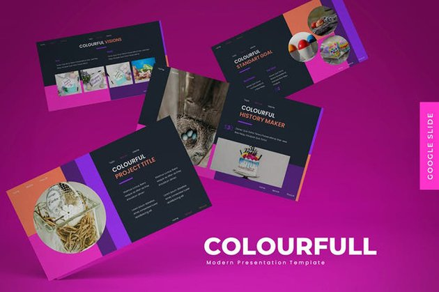 Colorfull - PowerPoint Template professionally designed modern presentation