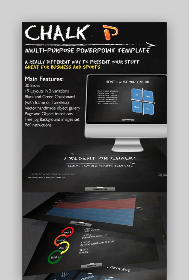 Download Chalkboard PowerPoint Template