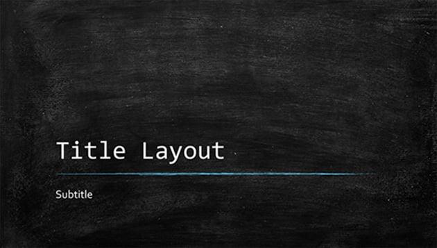 Education Chalkboard Template PowerPoint Free