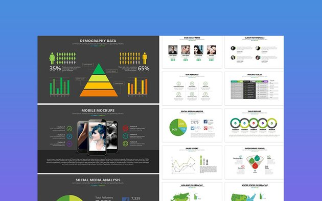 Excell - Chalkboard Background PowerPoint Template