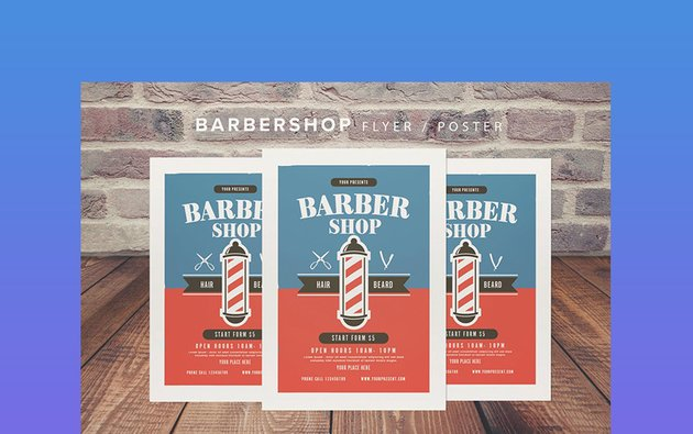 Barbershop Flyer PSD Template