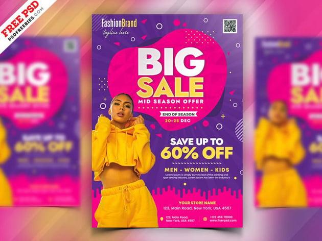 Fashion Big Sale - Flyer Templates Free Download
