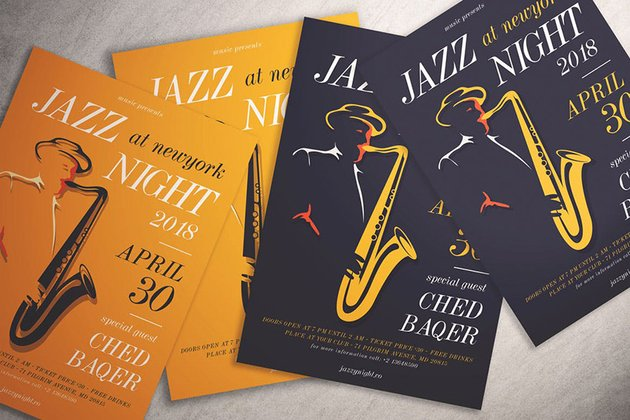 Jazz Night Flyer a premium template from Envato Elements