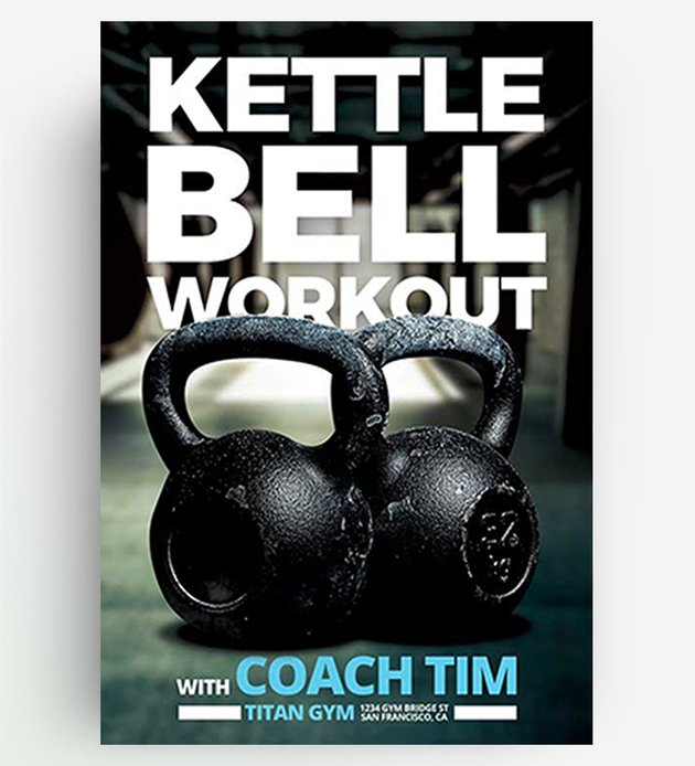 Kettlebell Workout Flyer Templates Free Download