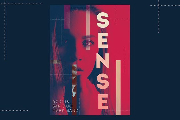 Third Sense Club Flyer a premium template from Envato Elements