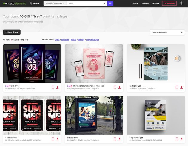 Choose from thousands of top premium flyer template from Envato Elements