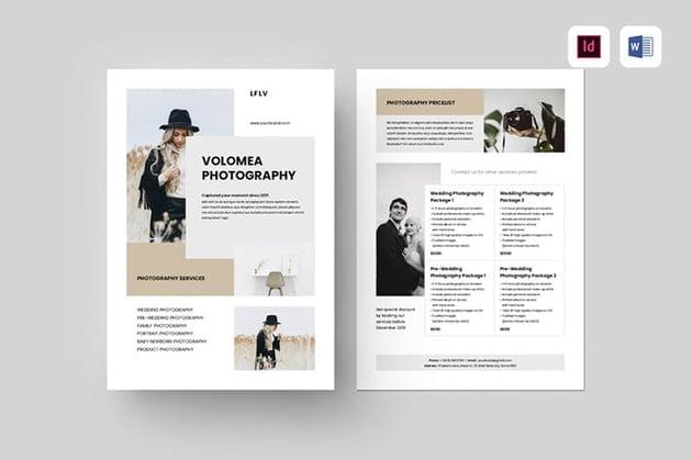 Photography Flyer a premium template on Envato Elements