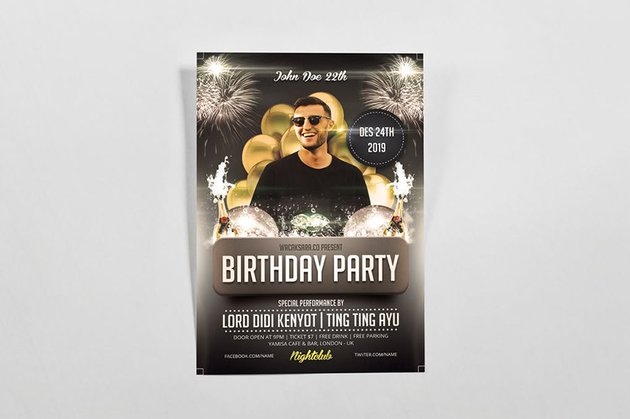 High-quality photo needed for Birthday Flyer from Envato Elements