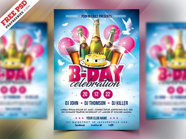 Celebration - Free Birthday Flyer Ideas