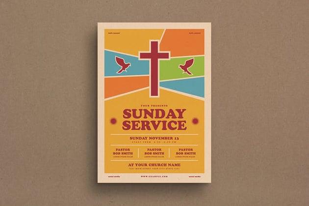 Sunday Service Event Flyer a premium church event flyer on Envato Elements