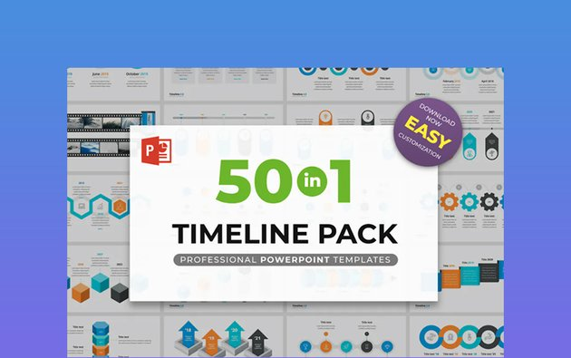 Timeline 20 - 3D PowerPoint Template