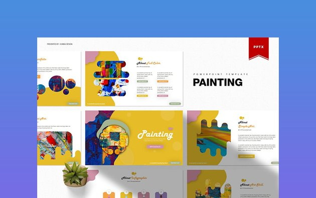 Painting - Abstract Background PowerPoint