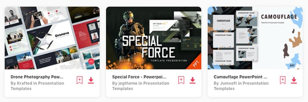 Army PowerPoint presentation templates on Envato Elements for 2020