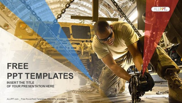 Humvee and Soldier - Free Military PowerPoint Templates Download