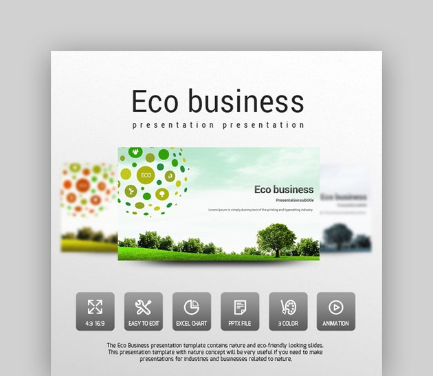 Eco Business - Green Template PPT