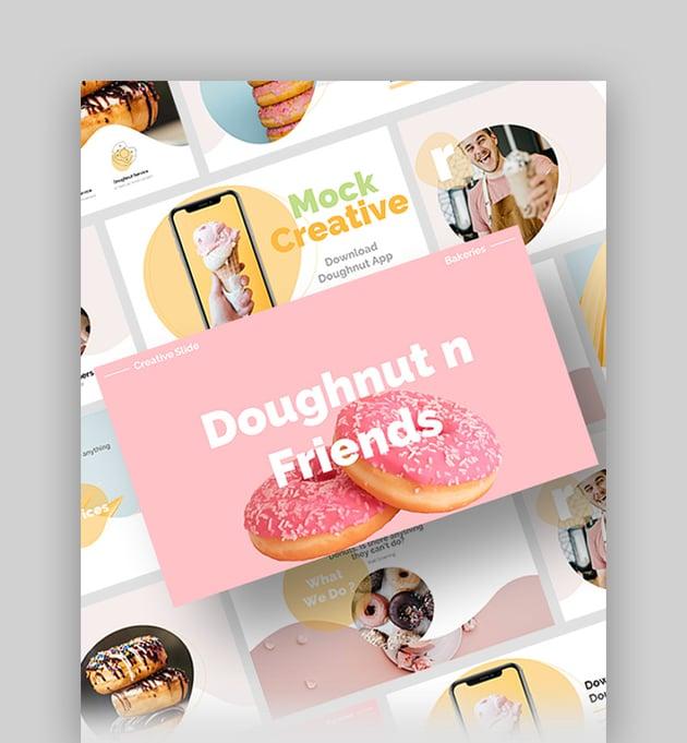 Doughnut n Friends - PowerPoint Background Pastel