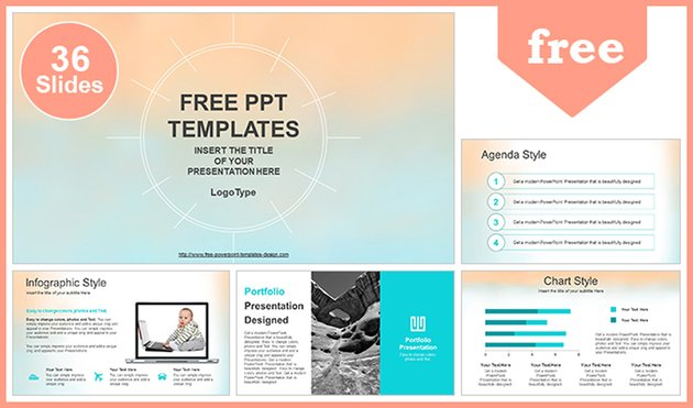 Free Pastel Watercolor Painted PowerPoint Template