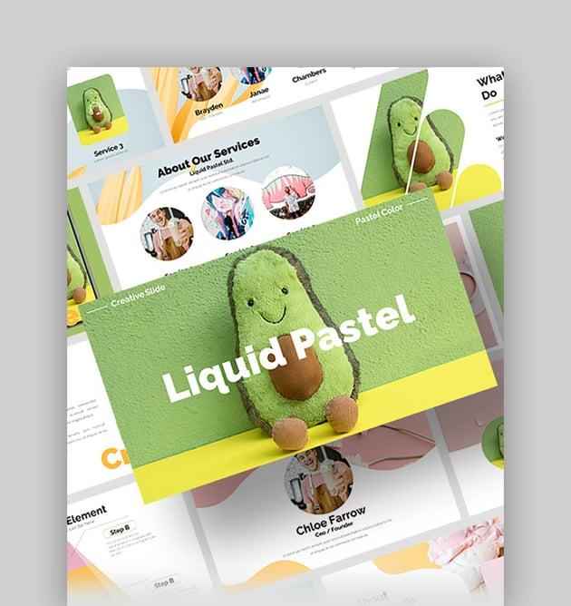 Liquid - Cute Pastel PowerPoint Template
