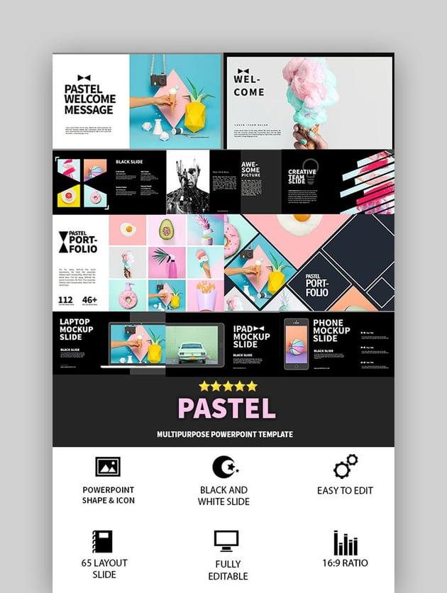 Multipurpose Pastel Slides Template