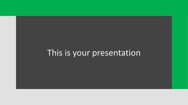 Bisou - Free Simple Dark PowerPoint Templates