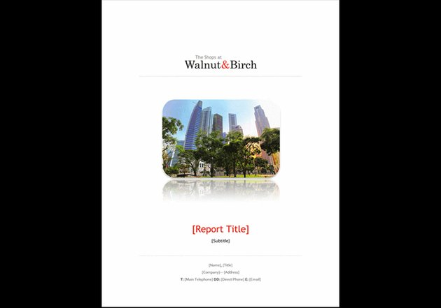 Business Report - Annual Report Template Word Free Download