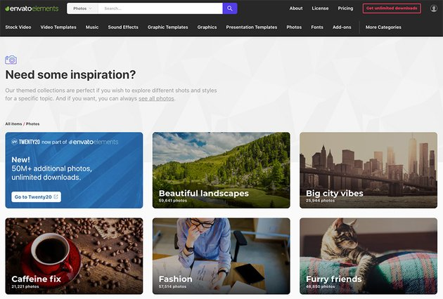 Over a million premium royalty-free stock photos at your disposal once you sign up for Envato Elements