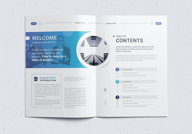 The Company Profile and Annual Report Word Templatejpg