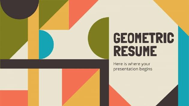 Geometric - Retro PowerPoint Template Free