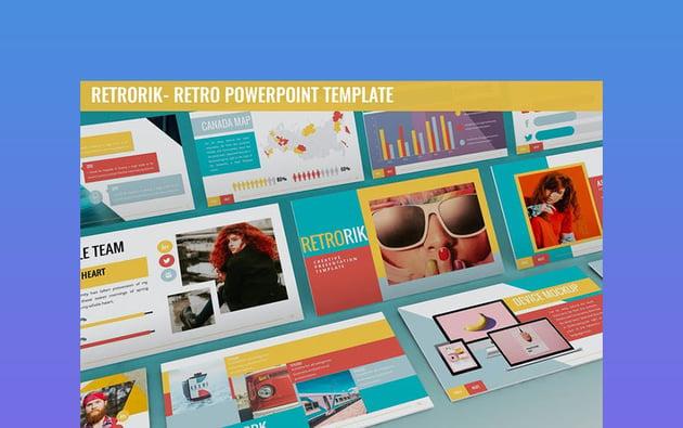 Retrorik - Retro PowerPoint Template