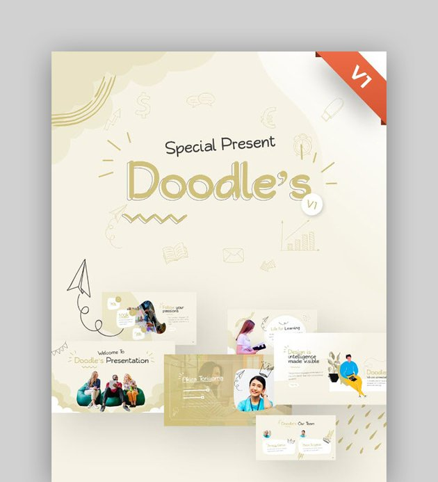 Doodles Creative Multipurpose PowerPoint Template