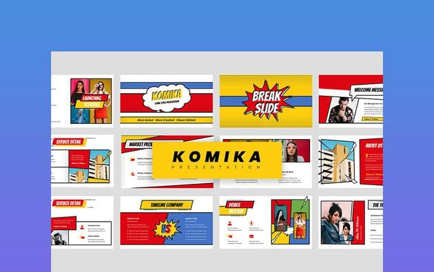 Komika - Comic Book PowerPoint Background