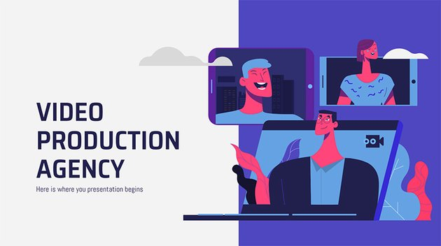 Video Production Agency - Free Design Cartoon Character in PowerPoint