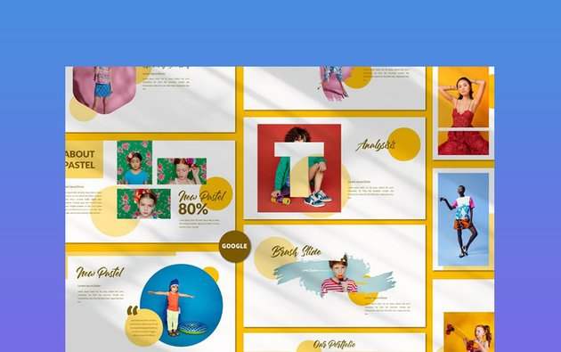 New Pastel Business - Pretty Google Slides Theme