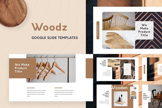 Woodz Google Slides Template a premium aesthetic Google Slides template on Envato Elements