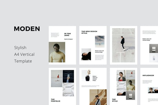 MODEN - A4 Vertical PowerPoint Style Template