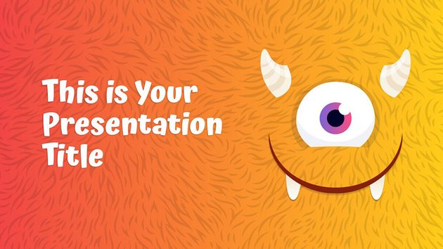 Colorful Monsters - Free Halloween PowerPoint Templates Teachers