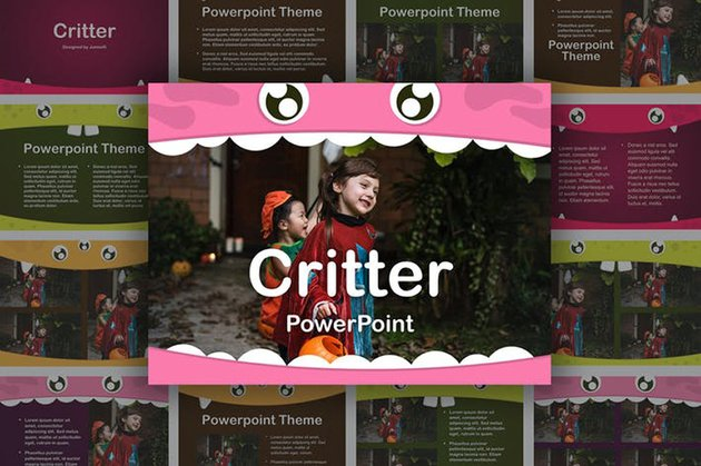 Critter PowerPoint Template a premium template on Envato Elements