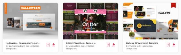 Premium Halloween PowerPoint Design Templates on Envato Elements