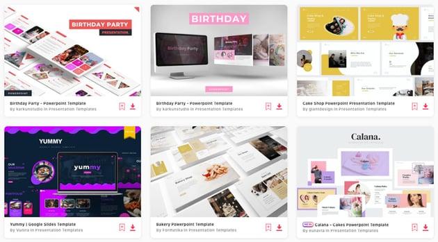Premium Birthday PPT Templates on Envato Elements