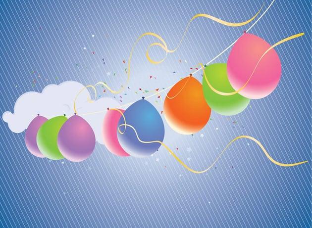 Free Birthday Balloons PowerPoint Templates