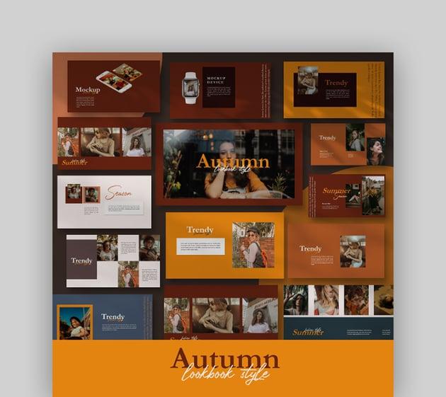 Autumn - Thanksgiving PowerPoint Background Template