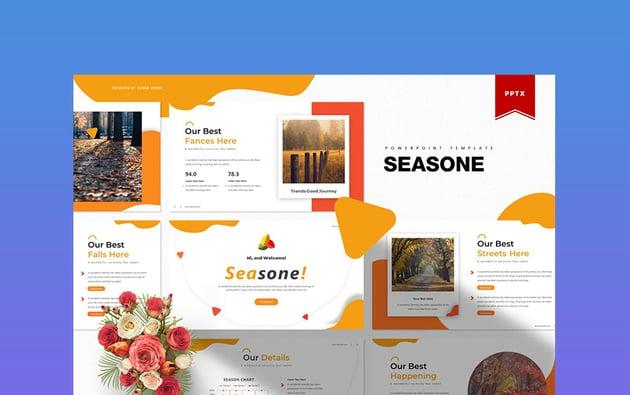 Seasone - Thanksgiving Day PowerPoint Presentation Template