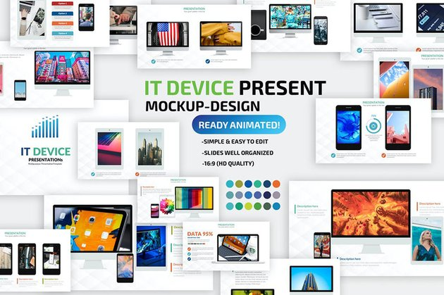 Device Mockup PPT Template, a premium template on Envato Elements