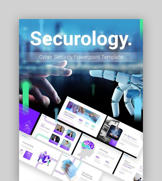Securology Cyber Security PowerPoint Theme
