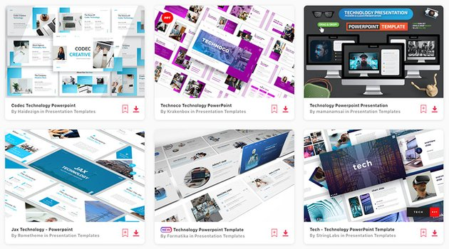 Premium Technology PPT Templates from Envato Elements