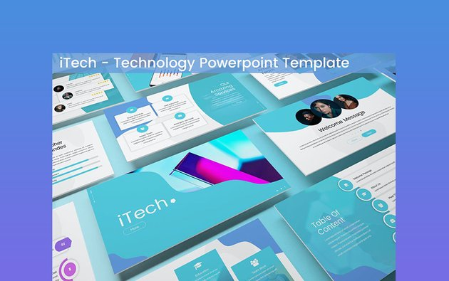 iTech Computer Security PowerPoint Theme