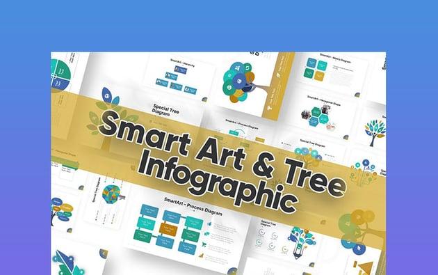 Smart Art & Tree - Decision Tree PowerPoint
