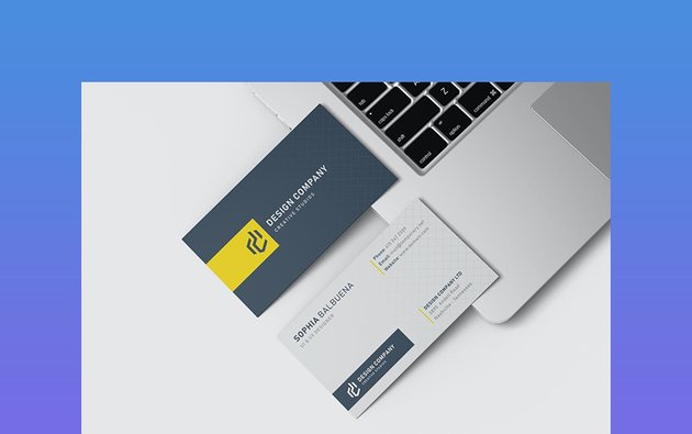 Card Visit Template Horizontal and Vertical